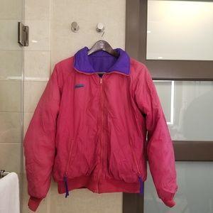 Vtg Reversible Columbia retro jacket radial sleeve